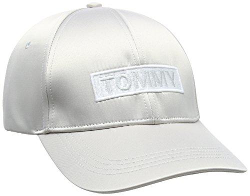 Tommy Hilfiger Damen Baseball Tjw Satin Cap, Elfenbein (Pumice Stone 013), One Size