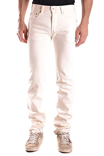 Evisu Herren Mcbi338010o Weiss Baumwolle Jeans