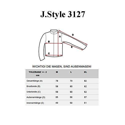 BOLF Herren Mantel Herrenmode Winterjacke Herrenmantel J.STYLE 3127 Schwarz