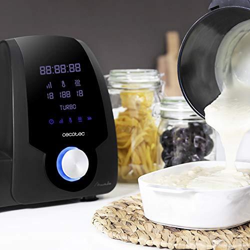 Cecotec Robot de Cocina Multifunción Mambo Black.  Capacidad de 3,3l, Temperatura hasta 120ºC con Selección Grado a Grado, 10 Velocidades + Turbo, Programable hasta 12h, Incluye Recetario, 1700 W