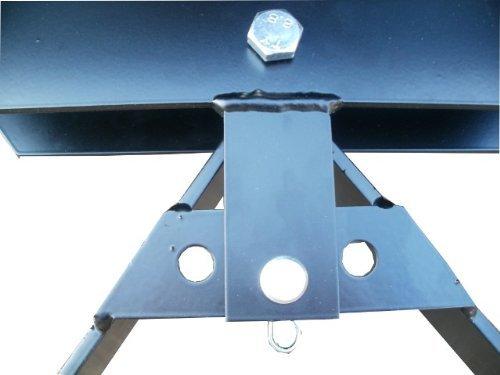 Schneeschild / Gekantet mit abschraubbarer Universal-Halterung / Schwarz / 200 x 40 cm / 3-stufig verstellbar / Für Einachser, Rasenmäher-Trecker