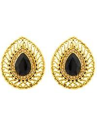 Voylla Ethnic Drop Shape Stud Earrings