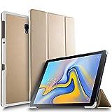 ELTD Coque Housse Étui pour Samsung Galaxy Tab A 10.5 SM-T590/T595, Support Auto Réveil/Sommeil pour Samsung Galaxy Tab A SM-T590/SM-T595 10.5 2018, Or