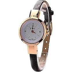 WINWINTOM Round Quartz Analog Bracelet Wrist Watch Black