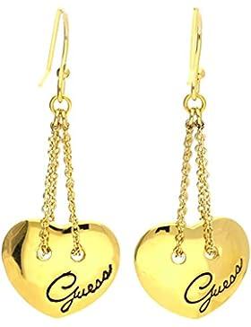 Guess Damen Ohrringe Ohrhänger Metall Gold UBE21302