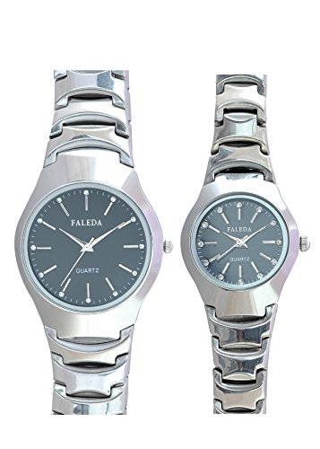 Faleda P6124GCHB Standred Analog Watch For Couple