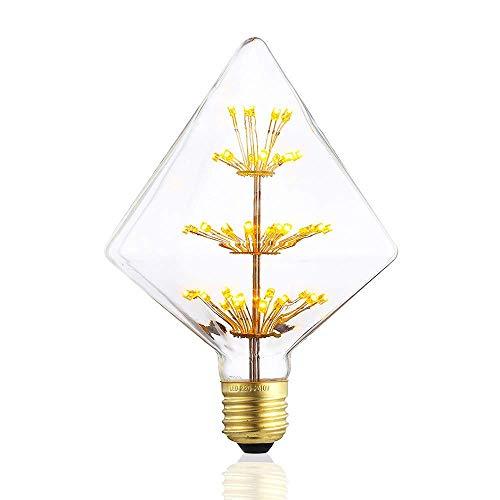 HomerLover ST1489-Z148 - Bombillas LED decorativas de cristal para chimenea, regulables, luz...