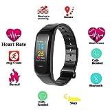 Fitness Tracker Uhr mit Pulsmesser Blutdruckmessgerät, Farbbildschirm Fitness Armband IP67 Wasserdicht Aktivitätstracker mit Schlafmonitor Kalorienzähler Schrittzähler für Damen Herren