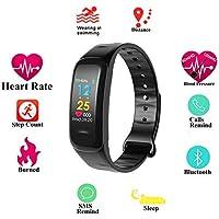 Teepao Ip67 Pulsera Actividad con Pantalla Color Pulsómetro Ritmo Cardíaco,Fitness Activity Tracker Presión Arterial Inteligente Reloj Smart Bracelet Watch Monitor De Sueño para Hombre Mujere