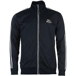 Lonsdale Veste de survêtement pour homme veste de sport Sport Loisirs Fermeture Éclair - Bleu - Medium