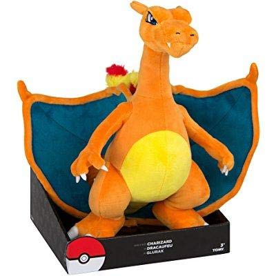 "Exclusive Officially Licensed 12"" Jumbo Pokemon Charizard Plush Toy With Stand"