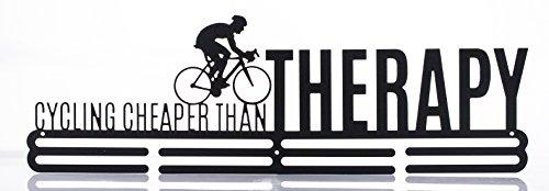 Sport Medaillenhalter Medaille Aufhänger Display Radfahren billiger als Therapie Fahrrad Bike Metall Carbon Stahl zwei Stufe Professionelle Wandhalterung