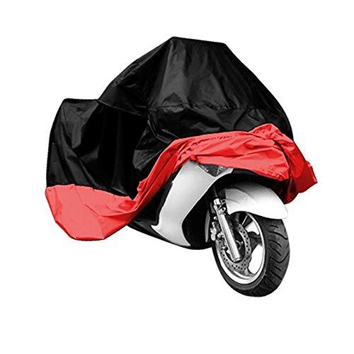 CWWHY Im Freien wasserdichtes Fahrrad-wasserdichte Motorrad-Abdeckung, Allwetter- im Freienschutz, wasserdichtes u. Anti-UV-Ripstop-Material,Red,L