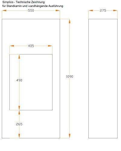 bergamo Simplico Ethanolkamin: Standkamin – Weiß - 2