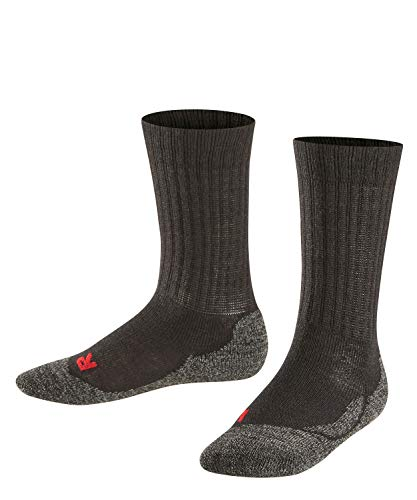 FALKE Kinder Active Warm K SO Socken, Blickdicht, Black, 35-38