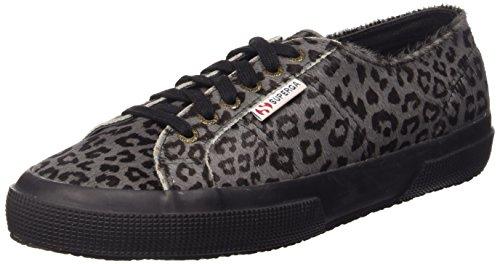 Superga 2750-LEAHORSEW Damen Hohe Sneakers Grau