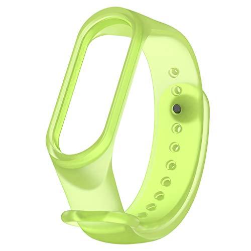 My Band 4 Armband, Webla, Transparentes Silikon-Ersatzarmband Für Xiaomi Mi Band 4, Grünes Silikon (Grün)