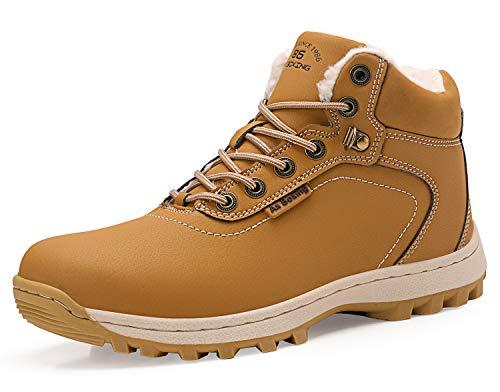 AX BOXING Winterschuhe für Herren Schuhe Winter Winterstiefel Arbeitsstiefel Schneestiefel Schneeschuhe (38 EU, A7445-Amarillo)