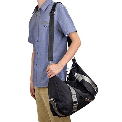 MeCooler Mädchen Handtasche Retro Messenger Bag Umhängetasche Damen Kuriertasche Designer Vintage Schultertasche Laptop Nylon Taschen für Freitag Strandtasche Sporttasche Reisetasche Schwarz