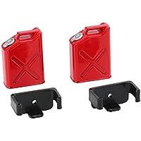 Gazechimp Juguetes de Piezas Accesorios 1/10 RC Rock Rastreador Tanque de Combustible + Montajes