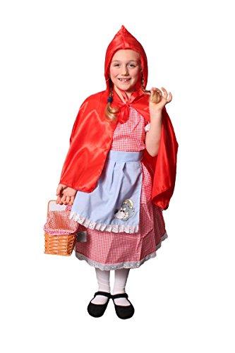 Kostüm Big Riding Wolf Hood Red Bad - Rotkäppchenkostüm für Kinder, mit rotem Korb-perfekt für Kostümpartys und Themenveranstaltungen, Größe S-XL