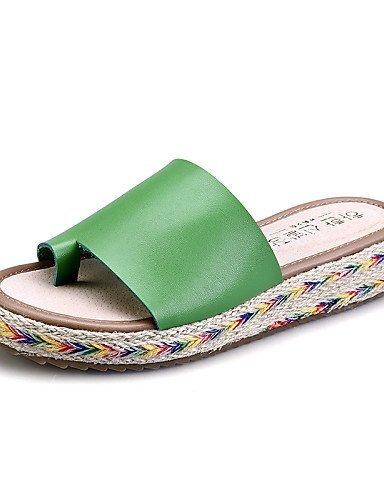 lfnlyx Femme Chaussures Plateforme en microfibre Chaussons/bout rond/Sandales à bout ouvert pour femme Noir/marron/vert/blanc noir - Noir