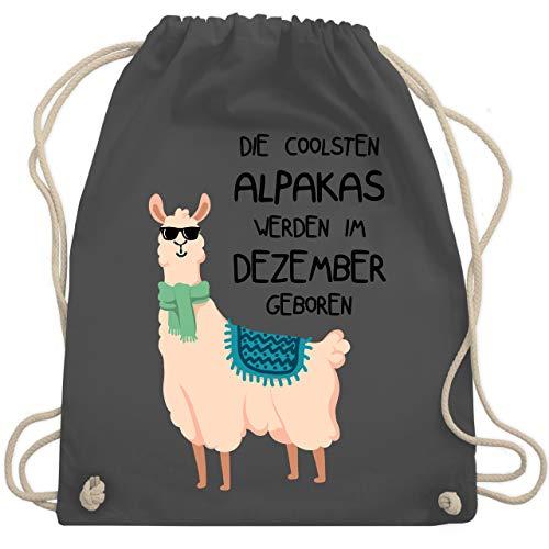 Geburtstag - Die coolsten Alpakas werden im Dezember geboren Sonnenbrille - Unisize - Dunkelgrau - WM110 - Turnbeutel & Gym Bag