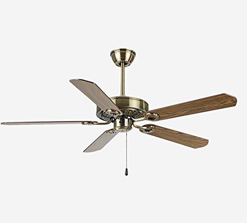 Electric fan Deckenventilator, amerikanisches Restaurant Wohnzimmer Deckenventilator, europäische Retro-Home-Ventilator, Qing Bronze Holzdecke Ventilator (größe : 36inches)