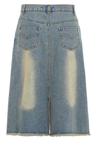 SS7 NEUF Femmes Jeans Ligne-A SEQUIN jupe, Tailles 8 pour 14 Vintage