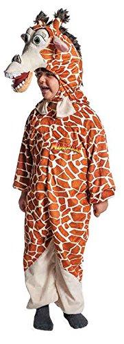 2–Kostüm Madagascar M, Mehrfarbig (Melman, Die Giraffe)