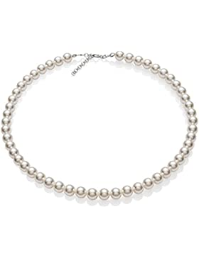 Eine Damen-Perlenkette aus echten Swarovski Elements Perlen, mit großem Schmucketui, ideal als Geschenk für Frau...