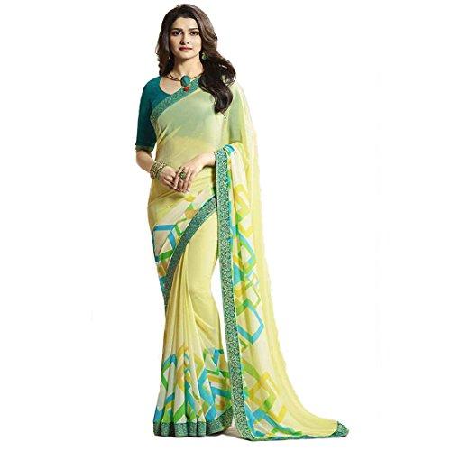 Yellow Sarees Pramukh Saris Women's Designer Party Wear Prachi Desai Bollywood New...