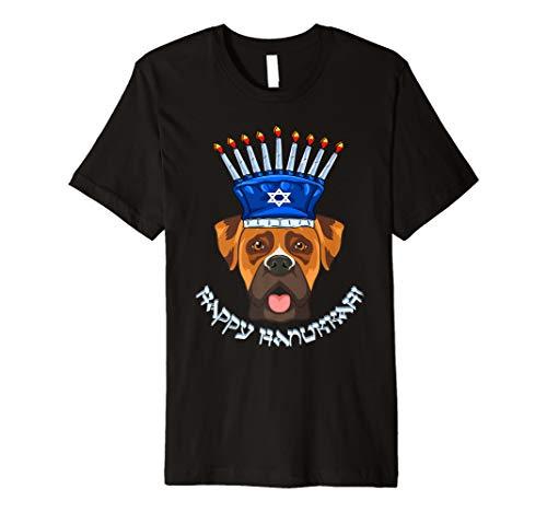 Boxer Menora Hut T-Shirt Chanukka Chanukah Shirt