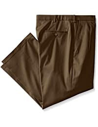 Haggar Men's Big-Tall Premium No Iron Classic Fit Expandable Waist Pleat Front Pant