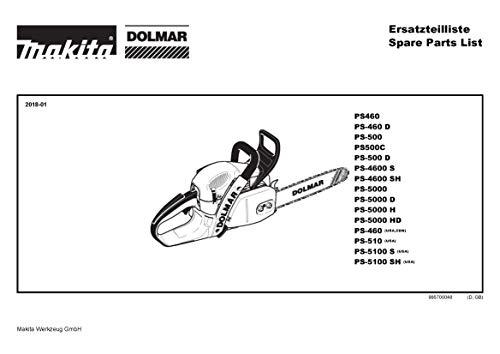 Preisvergleich Produktbild Reparatur-Satz Chokewelle,  Original Ersatzteil für Dolmar PS-5000 D,  957153080-6303