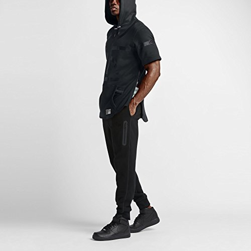 Nike AIR Pivot V3 SS Hoody-Felpa da uomo Negro (BLACK/BLACK)