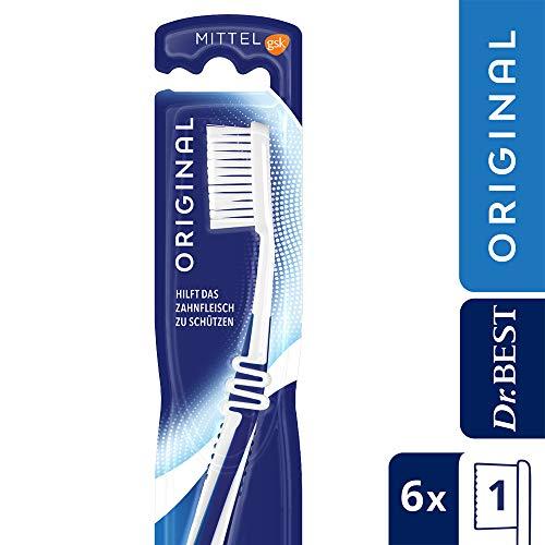 Dr. Best Zahnbürste mittel, 6er Pack (6 x 1 Stück)