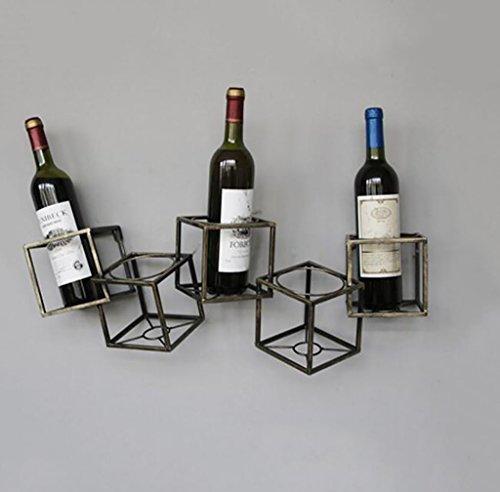 FAFZ-Champagner-Becherhalter, Weinregal Weinregal, Vintage Schmiedeeisen Flasche Weinregal...