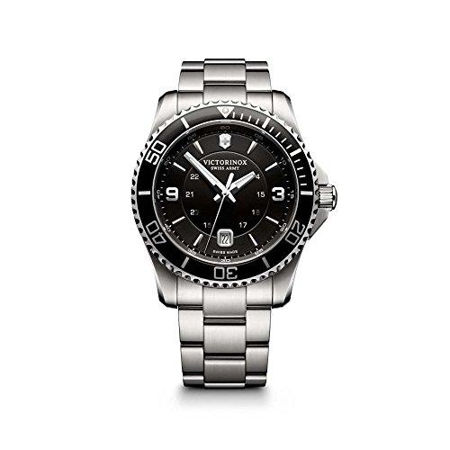 Victorinox Herren-Armbanduhr Maverick Analog Quarz Edelstahl 241697