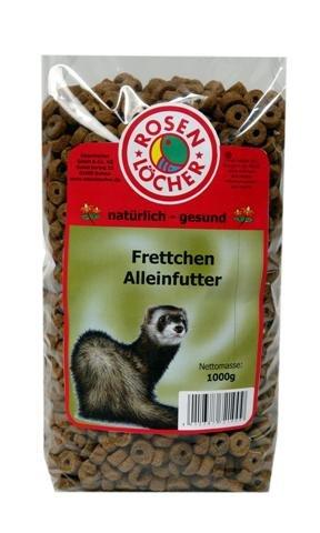 4x Frettchenfutter 1000g, speziell für Frettchen KEIN KATZENFUTTER, Frettschen -