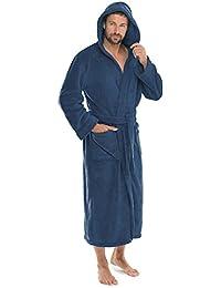 CelinaTex Florida Bademantel, mit Kapuze XXXL blau Coral Fleece Damen Saunamantel Herren Morgenmantel Hausmantel