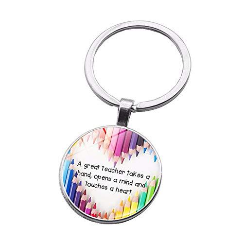 GUOYIHUA Lehrer Keychains Geschenk für Ihren Lehrer-Abschluss-Geschenk-Anerkennungs-Schlüsselkette-Abschluss-Tag der Lehrer