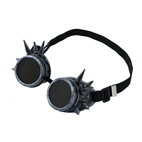 Xshuai Cooler Design fantastischer Blick Vintage viktorianische Steampunk Goggles Gläser Schweißen Cyber Punk Gothic Cosplay (Mehrfarbig A / B / C / D / E / F / G) (G) (Punk-kante)