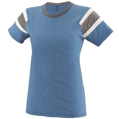 Augusta Sportswear Girls Fanatic Tee M Royal/Slate/White -