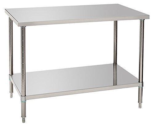 Bartscher Arbeitstisch mit Bodenbord 1200 mm breit – 601712