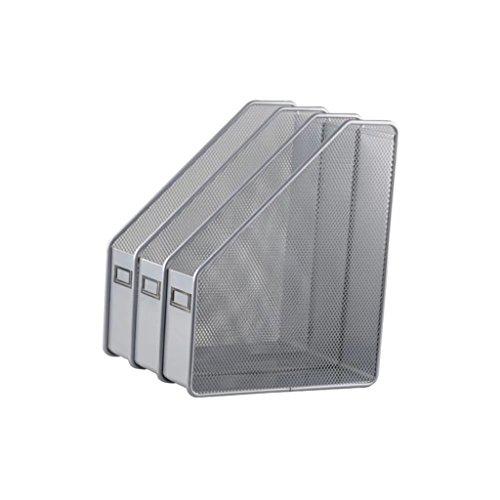 3vereint Metall grau A4Datei Organizer Dokumente Papier Ablageschalen Regal Racks für Büro oder Schule auf Desktop