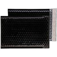 Purely Packaging - Sobres acolchados (C5, 250 x 180 mm, cierre autoadhesivo, 100 unidades), color negro