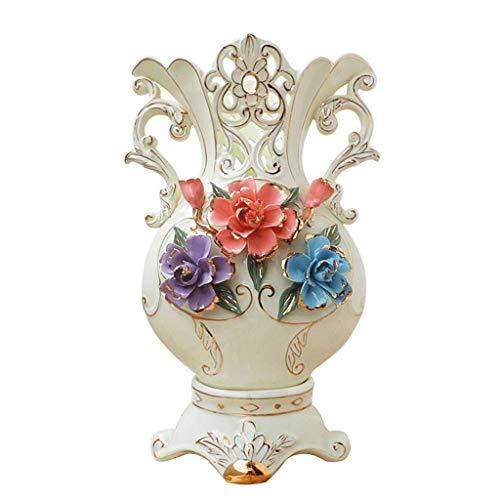Vase Jardiniere Europäischen Stil Moderne Zeitgenössische Keramik Porzellan Handgefertigte Schreibtisch Couchtisch Dekoration Wohnzimmer Tv Schrank Hochzeitsgeschenk Kreative Roman Dreiteilige für Sc -