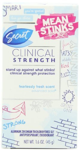 Secret Clinical Strength Mean Stinks Fearlessly Fresh Scent Advanced Solid Antiperspirant & Deodorant 1.6 Oz by P&G