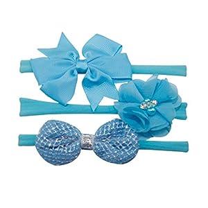 3Pcs Bowknot Haarband Set | Venmo Elastisches Blumenstirnband | Perlenhaar Mädchen Baby Stirnband | Stirnbänder verknotete Stirnband Turban Headwrap | Knot Stirnband Kleinkind Stirnband | Head Wraps
